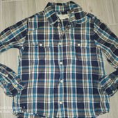 H&M Рубашка на мальчика 7лет замеры на фото