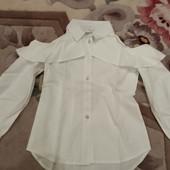 !!! Красивая блузка с открытым плечом и рюшем!!! Смотрим замеры!! Собираем лоты!!