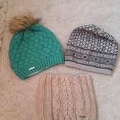 3шт шапки!! Готуємося до холодів