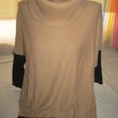 Очень красивый теплый укороченый свитерок-оверсайс,состояние хорошее,р.16