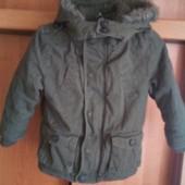 Куртка еврозима, внутри флис, размер 3-4 года 104 см, F&F. состояние отличное