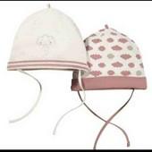 lupilu.комплект из двух хлопковых шапочек с завязками  74/80