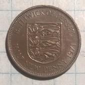 Монета Джерси 1/2 пенни 1971