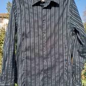 Черная котоновая мужская рубашка H&M