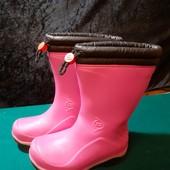 Утепленные резиновые сапоги Dunlop, ориг. Португалия, разм. 32 (19,5 см внутри). Сост. оч. хорошее!
