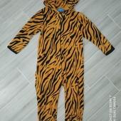 Слип пижама микрофлис 5-6лет замеры на фото