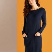 Стильное трикотажное базовое платье, высокое содержание вискозы, Esmara. Размер L, евро 44-46