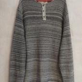 Меланжевый мужской свитер sand stone