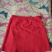 Роскошная красная юбка, большой размер, на укр. 50-60