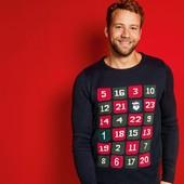 Новогодний брендовый свитер Livergy очень высокое качество!размер XL