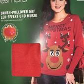 Женский рождественский свитер от немецкого бренда esmara светится с музыкой