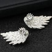 Красивые серьги крылья. Много лотов. Реальные фото.