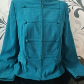 Красивый пиджак бирюзового цвета, р.14 в хорошем состоянии