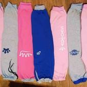 Утепленые спортивные штаны. 80-140, разные