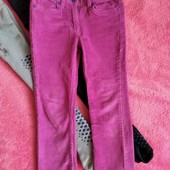 Вельветовые теплые штанишки и 2е колгот на махре на р.110-116