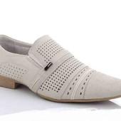Акция часа  Мужские    Натуральные   Кожаные туфли  фирма Kangfy.