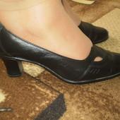 Кожаные туфли р.41 на широк. ногу Goral Польша