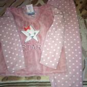 Теплая пижама для девочки р.140-146 Новая