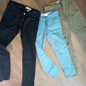 Бесплатная доставка! лот - 3 пары джинс на девочку подростка 146-158см