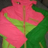 Шикарная куртка 3в1, с флисовой кофтой подстежкой
