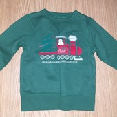 Новый свитер на флисе с новогодним рисунком на 2-3года