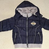куртка зимняя теплая на флисе на 5-6 лет