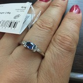 Натуральный кианит ! 0.62 карата. Новое с биркой ! Серебряное кольцо , 925 проба серебра