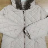 Зимнее пальто без следов носки.5-6 лет.