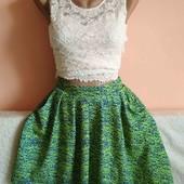 Як нова!Дуже гарна якісна юбка з карманами на літо р.10. Заміри