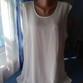 Белая блузка/майка, р.50(наш 58-60)