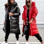 Стильная удлинённая куртка-пальто, размеры S, M, L, xl, 3 цвета! Цвета: чёрный, красный, бутылка.
