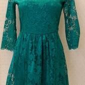 Скоро корпоративы!!! Красивое кружевное женское платье Warehouse, с-ка
