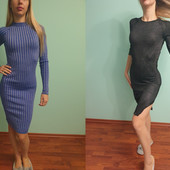 Нарядные стрейчевые трикотажные платья с люрексом, как новые, размер 42-46, S+- , одно на выбор