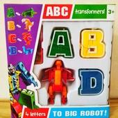 Буквы -трансформеры,4 шт   Алфавит   Робот-трансформер   Lingvo zoo   ЗооботыТрансботы