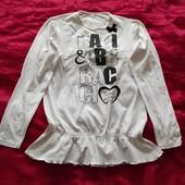 Блуза белая свитшот Коттон