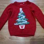 свитер реглан новый год новогодний на девочку 2 - 3 года