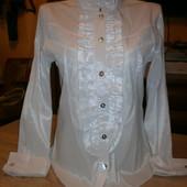 Шикарная блуза- рубашка, подойдет как для офиса так и для школьницы
