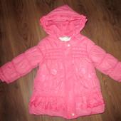 Куртка-пальто на девочку еврозима, 86-96 см. Замеры!