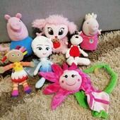 Лот іграшок  Пеппи, Ельза, гнучка квітка та інші..
