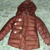 Деми куртка для девочки на 6-7 лет