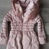 Теплая зимняя курточка для девочки Nucleo! Германия! 104р. Состояние отличное!!!