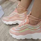 Модные кроссовки, ботинки на платформе 37р