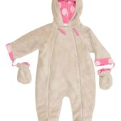 The essential one комбинезон демисезонный новорожденной девочке 0-3 м 50-56-62 см плюшевый новый