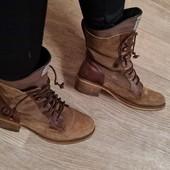 Брендовые ботинки 100% натуральный замш и кожа