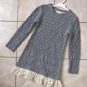 Стоп! ❤Теплое красивое искрящееся платье,7-9 лет❤Собирайте лоты!