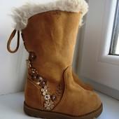 Роскошные зимние сапоги Primark. Натуральная замша. Стелька 13 см