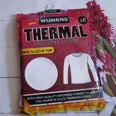Женская термо футболка с длинным рукавом для дополнительного тепла 14-16р смотрите замеры