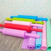 силиконовый коврик + силиконовая скалка