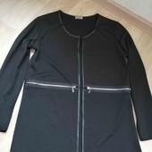 Zara/шикарный кардыган со вставками екокожи /Италия /M!!!