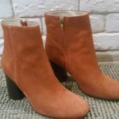 Ботинки из натуральной замши от Minelli, размер 38